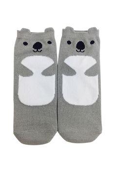 Koala Ankle Socks