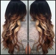 long hair ombre dark to light - - Yahoo Image Search Results