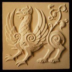 Wall Sculptures, Sculpture Art, Fairytale Creatures, Art Decor, Decoration, Celtic Designs, Decorative Tile, Learn To Paint, Ancient Art