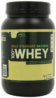 Amazon.com: Optimum Nutrition 100% Whey Gold Standard Natural Whey, Vanilla, 2 Pound: Health & Personal Care