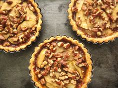 Caramel Apple Pecan Tarts