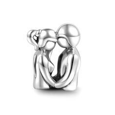 You and Me Love Charm 925 Sterling Silver