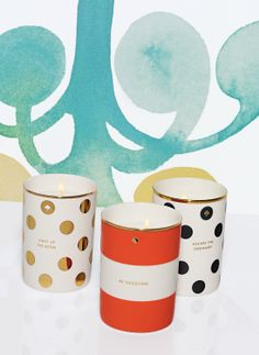 Light up the room. kate spade holiday candles.