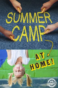 Summer Camp Ideas for the Kids - Doing a staycation? Check out these amazing tips for a summer camp AT HOME! Click now!