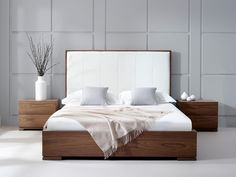 Bella Natural Walnut Bed