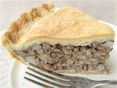 Tourtiere holiday meat pie - made it with ground turkey