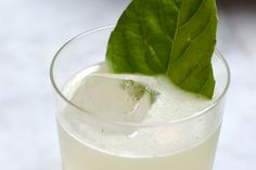 El Pepe (mezcal and genepi liquor), lemon juice, basil, bitters (via PUNCH)