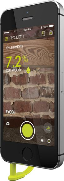 Ryobi Phone Works Turns your Phone into a Smart Moisture Meter, so you can check dampness in your home and monitor problem areas straight from your phone!
