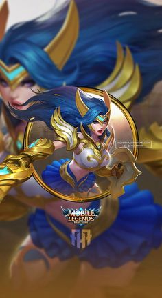 Wallpaper Phone Freya Valkyre by FachriFHR Mobile Legend Wallpaper, Ocean Wallpaper, Miya Mobile Legends, Moba Legends, The Legend Of Heroes, Anime Characters, Fictional Characters, Doraemon, Bang Bang