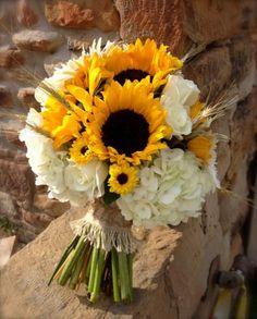 Bouquet bianco e giallo