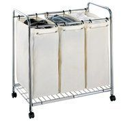 3-Section Laundry Sorter...Less Laundry Bins = More Floor Space