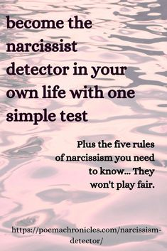 Be a Narcissism Detector with this 1 Simple Test - Poema Chronicles Narcissistic People, Narcissistic Mother, Narcissistic Behavior, Narcissistic Sociopath, Narcissistic Personality Disorder, Emotional Abuse, Emotional Healing, Emotional Intelligence, Christian Quotes