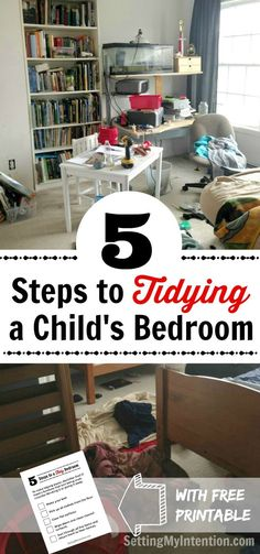 My kids are old enough to learn how to tidy their own rooms. Are yours? Here are 5 steps to tidying children