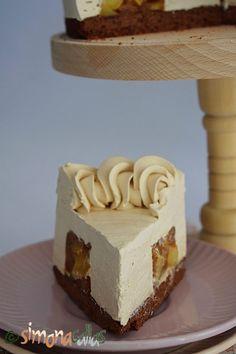 Tort Entremet cu mere si caramel - un desert rafinat - simonacallas Nutella, Vanilla Cake, Mousse, Cheesecake, Sweets, Easy, Food, Cakes, Candies