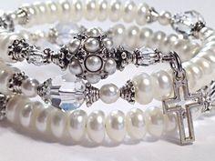 Pearl & Swarovski Crystal Rosary Bracelet