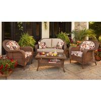 devonport 4-piece wicker conversation furniture