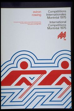 Design: Montreal 1976 Design Team (assumed)  Client: Montreal 1976 Olympic Games  Date: 1975