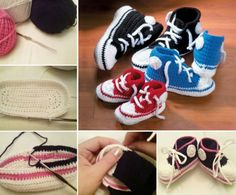 Crochet Converse Shoes Free Patterns for knitting and crochet on our site.