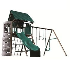 Lifetime Products A-frame Residential Metal Playset With Swings 90042