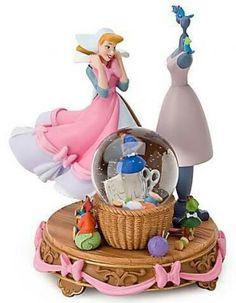Disney Snow Globe - Cinderella (A Lovely Dress for Cinderelly) Walt Disney, Deco Disney, Cute Disney, Disney Mugs, Disney Art, Cinderella Pink Dress, Cinderella Disney, Disney Princess, Water Globes