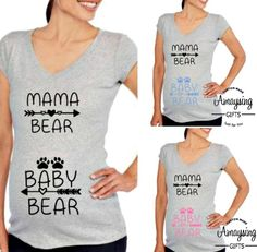 MAMA BEAR & BABY BEAR Maternity Shirt. This shirt is great for baby announcements and gender reveals too. Soft comfy and  stylish! http://amaysinggifts.com/amaysing-gifts-products/mama-bear-baby-bear-maternity-tshirt