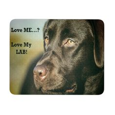 Love Me? Love My Chocolate Lab! Best Mousepad for Labrador Lovers!