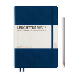 Leuchtturm1917 Notebook Medium (A5), Hardcover – Navy Blue