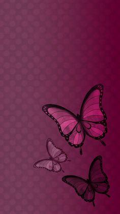 ღ Butterfly Polka Dot Wallpaper ღ