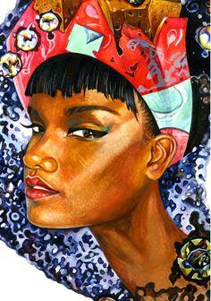 Dawna. Watercolor, 11¾ × 16½,2011.-illustration by Sunny Gu #fashion #illustration #fashionillustration
