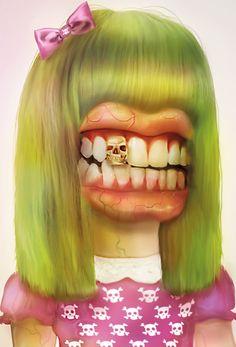 Damn girl by Jose Bernabe, via Behance