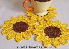 Sunflower Coaster - Crochet