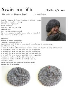 Aig no 6 - ans - ensemble béret poncho: Beginner Knitting Projects, Knitting For Kids, Knitting For Beginners, Baby Knitting, Shrug Knitting Pattern, Easy Knitting Patterns, Crochet Patterns, Crochet Blanket Tutorial, Crochet Cap
