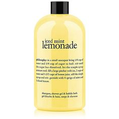 Iced Mint Lemonade Shampoo, Shower Gel & Bubble Bath from ULTA Beauty. Shop more products from ULTA Beauty on Wanelo. Philosophy Shower Gel, Philosophy Products, Mint Lemonade, Perfume, Body Spray, Smell Good, The Body Shop, Beauty Care, Beauty Makeup