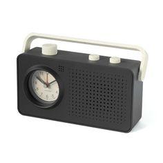 26248Radio alarm 1960's gray