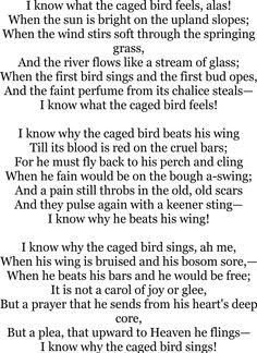 Poem of the week: Sympathy by Paul Laurence Dunbar