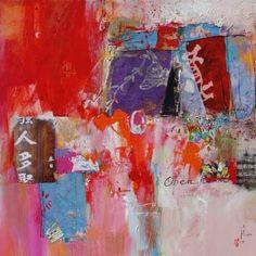 """Saatchi Art Artist Xiaoyang Galas; Collage, """"open heart"""" #art"""
