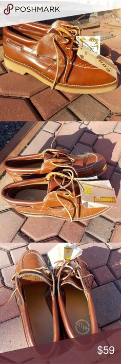 Double H HH Moc Mens Oxfords Leather Boat Shoes New with tags. Size 10 D. Steel toe leather brown shoes. Double H Shoes Oxfords & Derbys
