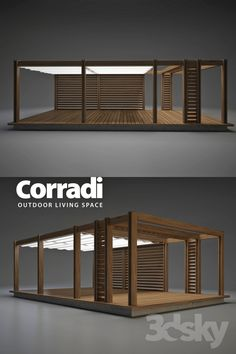 models: Other - Pegola Corradi Rooftop Terrace Design, Balcony Design, Roof Design, House Design, Modern Gazebo, Modern Patio, Backyard Patio Designs, Diy Patio, Backyard Furniture