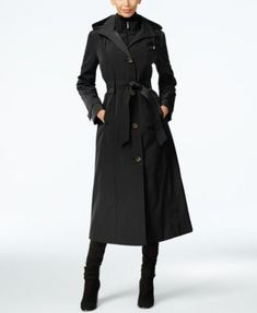 London Fog's petite maxi trench coat is a lightweight look with a layered design that keeps you cozy and even more stylish. | Polyester; lining: polyester/cotton | Machine washable | Imported | Point