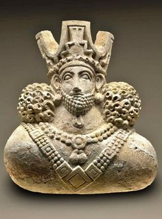Bust of a King Kish East, Sasanian Period (AD 224 - 637), Collection Field Museum of Anthropology    Visit MUSEUMVIEWS  Please join Iranica Pictura on Facebook, Pinterest & Tumblr