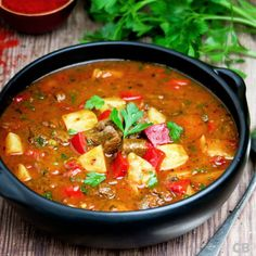 fall into a soup bowl! Spicy Pumpkin Soup, Healthy Pumpkin, Super Healthy Recipes, Healthy Crockpot Recipes, Beef Goulash Soup, Curry Recipes, Pork Recipes, Asian Vegetables, Healthy Slow Cooker