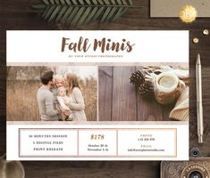 Check out this item in my Etsy shop https://www.etsy.com/listing/468761949/fall-mini-session-template-for