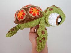 Häkeln Muster Squirt Meeresschildkröte aus findet Nemo von Krawka