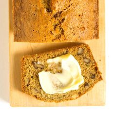 zucchini bread with crushed pineapple and nuts. This recipe only uses cinnamon, but that can be adjusted with nutmeg, cloves etc.