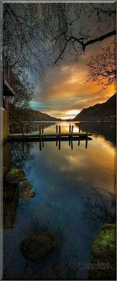 Ullswater Boathouse, Lake District National Park - UK England #photo by Simon Booth #landscape nature sunset reflection lake: by judy