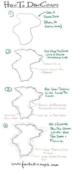 How to draw coasts on fantasy maps