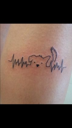 Heartbeat dog tattoo