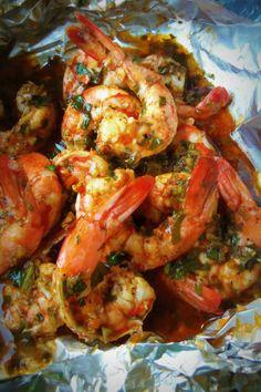 Spicy Cilantro Garlic Shrimp.