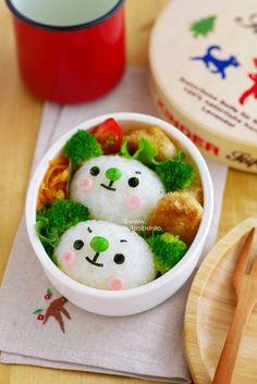 緑のお耳のくまちゃんのキャラ弁 - ◆きょうのおべんとう*キャラ弁