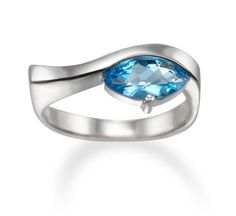 Stackable birth stone ring